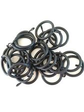 Integra Black metal curtain pole rings for 28mm pole. Priced per ring