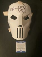 Kevin Eastman Autographed and sketched NECA mask W/ Beckett witnessed COA
