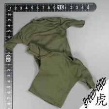 A336 1:6 Scale ace Military action figure parts  OD Green Tee shirt  x 2