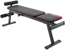 Fold-Down Weight Bench Abdominals Position 3 Backrest Positions 2 seat angles