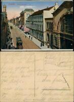 Ansichtskarte Krefeld Crefeld Friedrichstraße - Straßenbahn 1914