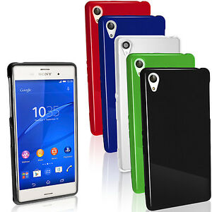 Glossy TPU Gel Case for Sony Xperia Z3 D6603 Skin Cover + Screen Protector