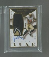 2015 Panini Luxe Marques Colston Gold Framed Auto Saints Logo Patch 4 Colors 4/5