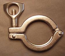 Stainless Steel 1.5 Tri Clover Clamp Still Whiskey Kegs Kettle Brew Sanitary