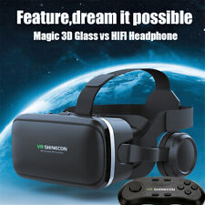 More details for 3d game vr shinecon virtual reality glasses headset + bluetooth remote control