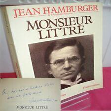MONSIEUR LITTRE Jean Hamburger  avec envoi !
