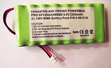 VISONIC POWERMAX PRO ALARM CONTROL PANEL 9.6V 2200mAh BATTERY P/N 0-9912-G
