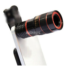 Clip-on 12x Zoom Telephoto Telescope Microscope Camera Lens For Phone iPhone UK