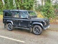 Land Rover Defender TD5 110 15P County Station Wagon Black Tomb Raider style
