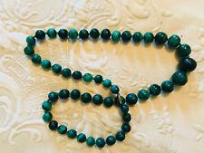 Collana etnica con pietre di colore verde NUOVO SALDI ESTATE