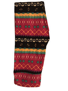 NEW LULAROE LEGGINGS OS AZTEC GEOMETRIC, RED, TEAL BLUE, GOLDEN YELLOW, BLACK