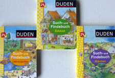 Bücherpaket Kinder ab 2 Jahre - Duden Such- und Findebuch - 3 Pappbücher