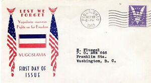 YUGOSLAVIA  / USA 1943 - PATRIOT COVER . FIGHTS FOR FREEDOM