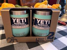New YETI Rambler 2-Pack 10oz Stainless Steel Vacuum Insulated Wine Tumbler