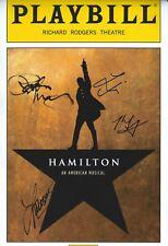 Michael Luwoye & Cast signed Lin Manuel Miranda' Hamilton 8x12 Photo Broadway
