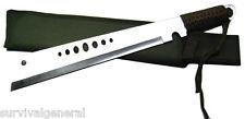 "19"" Zombie Full Tang Sword Knife Survival Steel Fixed Blade Sheath Machete Urban"