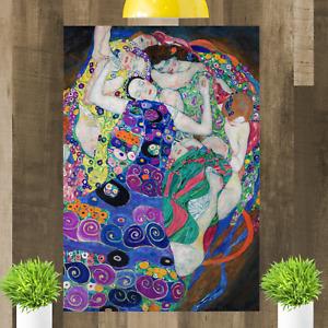 The Virgins Gustav Klimt Canvas Wall Art Picture Print Painting