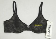DKNY Signature Lace Underwire Bra #451238 32D Black NWT