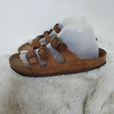 Birkenstock Brown Leather Florida Sandals Shoes 41 US 10 10.5
