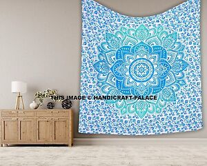 Indian Mandala Hippie Cotton Tapestry King Wall Hanging Bedding Bedspread Decor