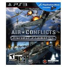 AIR CONFLICTS PACIFIC CARRIERS PS3 NEW! WWII, PEARL HARBOR, WAR, WARFARE