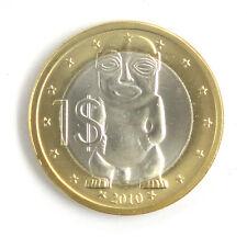 Cook Islands Coin $1 Dollar 2010 UNC, Carved Maori figure (Tangaroa)