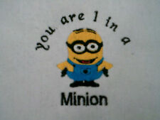 funny captions  baby bib.....you are 1 in a minion
