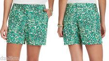 NWT Ann Taylor LOFT Cotton Linen Paisley Print Shorts Size 6P