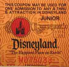 DISNEYLAND TICKET JUNIOR FROM MAGIC KEY TICKET IN MINT CONDITION DISNEY HTF