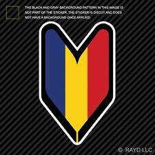 Romanian Driver Badge Sticker Die Cut Decal wakaba leaf soshinoya Romania ROU RO