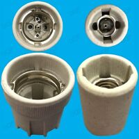 E26 (USA etc.) ES or E14 SES Screw Ceramic Lamp Holder for Heat Bulbs Vivariums
