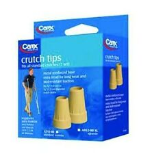 ISG CEXA952OO Carex Extra Large Skid Resistant Crutch Tips / Extra Tread  2 Pack