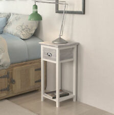 Small Bedside Table Lamp Phone Stand Nightstand 1 Drawer Hall Bedroom Furniture