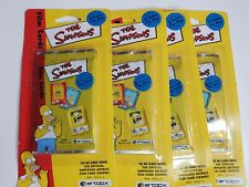 (4) 2000 Artbox The Simpsons Film Cards Sealed Packs ~ 2 Cards Pack ~ Groening