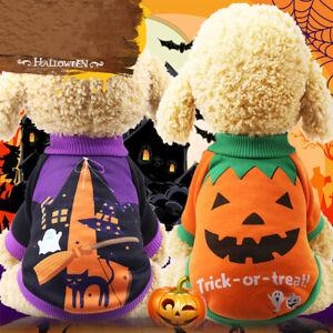 Pet Cat Dog Halloween Pumpkin Costume Puppy Coat Cotton Christmas Ches Dress