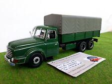 WILLEME LC610 6x4 baché benne 1957 camions d'autrefois 1/43 IXO camion miniature