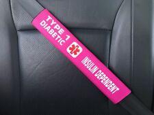 Type 1 Diabetes Medical Alert T1D Seat Belt Safety Cover