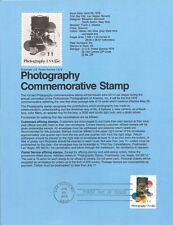 #7816 15c Photograph Stamp #1758 USPS Souvenir Page
