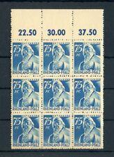 RHEINLAND-PFALZ Nr.13vw ** OBERRAND-9er-Block ME 117,-++ !! (134233)