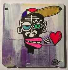 """kiss france"" de eR (street art brut outsider basquiat city paris love combas)"