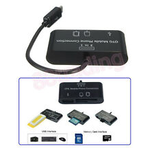 3 in 1 OTG On The Go Host Cable + Micro SD TF Card Reader Adapter for Samsung