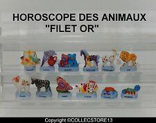 SERIE COMPLETE DE FEVES L'HOROSCOPE  DES ANIMAUX MAT FILET OR