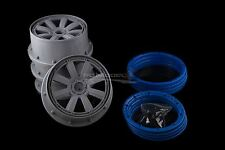 Mad Max 8 Spoke Rims With Beadlocks Truck For KM X2 & Losi 5ive 1/5th RC