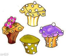 "2.5"" Fancy loralie cupcake flower set  fabric applique iron on"