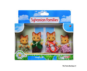 Sylvanian Families Calico Critters Beaman Ginger Cat Family