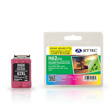 Jettec H62cxl High Quality Remanufactured HP C2p07ae (hp62) Colour Ink Cartridge