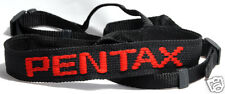 Pentax Black Red Vintage Camera Strap Genuine ME Super MX K20 K100d K-5 Leica RF
