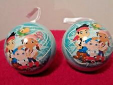 Disney Jake and the Never land pirates Christmas Ornament lot of 2 fillable tin