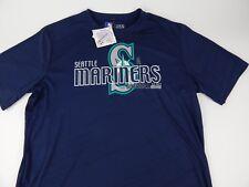 MLB Mens Seattle Mariners TX3 Cool Performance Shirt Large Baseball EST. 1977