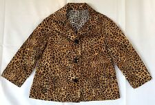 Girls Cotton Poplin Leopard Print Home sewn Jacket Suite Size 3 To 4